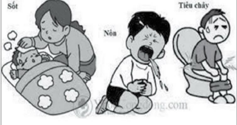 Biểu hiện tiêu chảy cấp do nhiễm khuẩn ở trẻ.